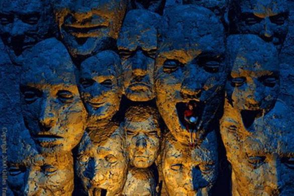 Inconsciente coletivo varios rostos